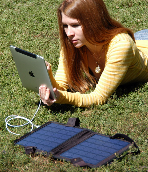 Use your Ipad or other devices anywhere the sun shines